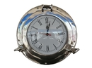 Handcrafted Model Ships WC-1445-12-CH Chrome Deluxe Class Porthole Clock 12
