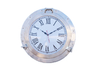 Handcrafted Model Ships WC-1447-20-BN Brushed Nickel Deluxe Class Porthole Clock 20