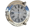 Handcrafted Model Ships WC-1447-20-CH Chrome Deluxe Class Porthole Clock 20