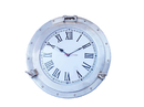 Handcrafted Model Ships WC-1448-17-BN Brushed Nickel Deluxe Class Porthole Clock 17