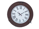 Handcrafted Model Ships WC-1448-17-BZ Bronzed Deluxe Class Porthole Clock 17