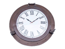 Handcrafted Model Ships WC-1449-24-BZ Bronzed Deluxe Class Porthole Clock 24