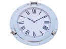 Handcrafted Model Ships WC-1449-24-CH Chrome Decorative Ship Porthole Clock 24