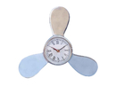 Handcrafted Model Ships WC-1520 Chrome Ships Propeller Clock 12