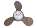 Handcrafted Model Ships WC-1521-AN Antique Brass Decorative Ships Propeller Clock 18