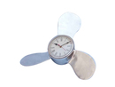 Handcrafted Model Ships WC-1521 Chrome Ships Propeller Clock 18