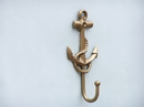 Handcrafted Model Ships WH-0115-AN Antique Brass Anchor And Rope With Hook 7&Quot;