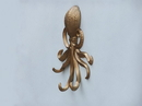 Handcrafted Model Ships WH-0116-AN Antique Brass Wall Mounted Octopus Hooks 7&Quot;