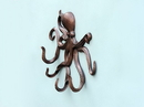 Handcrafted Model Ships WH-0117-AC Antique Copper Octopus With Tentacle Hooks 11&Quot;