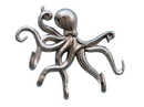 Handcrafted Model Ships WH-0117-CH Chrome Octopus With Tentacle Hooks 11&Quot;