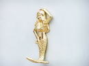 Handcrafted Model Ships WH-0120-BR Gold Finish Mermaid Hook 6&Quot;