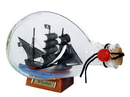 Handcrafted Model Ships Whydah-Bottle-7 Whydah Gally Pirate Ship In A Glass Bottle 7