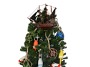 Handcrafted Model Ships William 14-XMASS Wooden Calico Jack's The William Model Pirate Ship Christmas Tree Topper Decoration