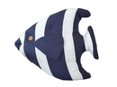 Handcrafted Model Ships Y-60780-Blue-Fish Blue Tropical Fish Pillow 18
