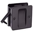 Harney Hardware 32513 Pocket Door Lock, Passage, Solid Brass, 2 1/2 In. X 2 3/4 In.