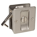 Harney Hardware 32517 Pocket Door Lock, Privacy, Solid Brass, 2 1/2 In. X 2 3/4 In.