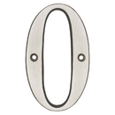 Harney Hardware 38015 4 In. House Number 0, Solid Brass