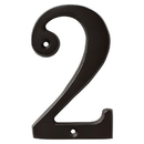 Harney Hardware 38210 4 In. House Number 2, Solid Brass