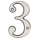 Harney Hardware 38315 4 In. House Number 3, Solid Brass