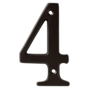Harney Hardware 38410 4 In. House Number 4, Solid Brass