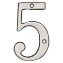 Harney Hardware 38515 4 In. House Number 5, Solid Brass