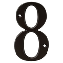 Harney Hardware 38810 4 In. House Number 8, Solid Brass