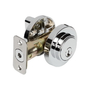 Harney Hardware 87615 Keyed Single Cylinder Contemporary Deadbolt W/ Round Escutcheon