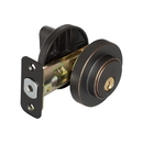 Harney Hardware 87623 Keyed Single Cylinder Contemporary Deadbolt W/ Round Escutcheon