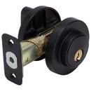 Harney Hardware 87626 Keyed Single Cylinder Contemporary Deadbolt, Round Escutcheon, Matte Black