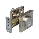 Harney Hardware 87745 Keyed Single Cylinder Contemporary Deadbolt W/ Square Escutcheon