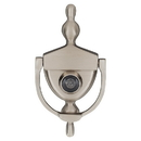 Harney Hardware DKV630U15 Door Knocker Viewer, Solid Brass, 6 In. With 1/2 In. Bore 180 Degree Viewer