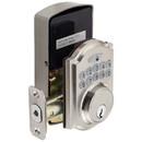 Harney Hardware EKD30U15 Electronic Keyless Deadbolt, Arch Top Escutcheon, Satin Nickel