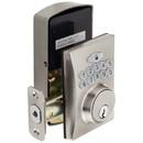 Harney Hardware EKD40U15 Electronic Keyless Deadbolt, Square Escutcheon, Satin Nickel