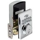 Harney Hardware EKD40U26 Electronic Keyless Deadbolt, Square Escutcheon, Chrome