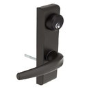 Harney Hardware ESCN95ETB Narrow Stile / Cross Bar Exit Device Keyed / Entry Function Lever Trim