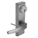 Harney Hardware ESCN95ET Narrow Stile / Cross Bar Exit Device Keyed / Entry Function Lever Trim