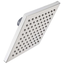 Harney Hardware SHSFS26 Shower Head, Single Function, 6 In. Square, ABS Plastic