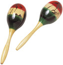 KHS America S310 Tri-Color Wood Maracas - Pair - header card & activity insert