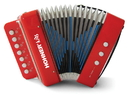 KHS America UC102R Kids Accordion with songbook & playing Instructions, red, retail box