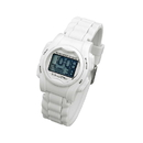 Global VibraLITE MINI Vibrating Watch with White Silicone Band