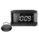 iLuv TimeShaker 5Q Wow-LED Dual-Alarm Clock with Qi Wireless Charging Pad and Wow Bed Shaker