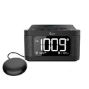 iLuv TimeShaker 6Q Wow-Bluetooth LCD Dual-Alarm Clock with Qi Wireless Charging Pad and Wow Bed Shaker