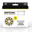 Rayovac Proline Advanced Mercury Free Hearing Aid Batteries 48/Box Size 10