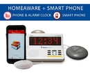 The HomeAware Smartphone Signaler - Wire line and Mobile phone signaler with bed shaker
