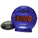 Sonic Alert Sonic Bomb SBB500ss Vibrating Alarm Clock in Blue