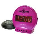 Sonic Alert Sonic Bomb SBB500ss Vibrating Alarm Clock in Pink