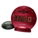 Sonic Alert Sonic Bomb SBB500ss Vibrating Alarm Clock in Red
