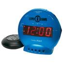 Sonic Alert Sonic Bomb SBB500ss Vibrating Alarm Clock in Turquoise