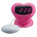 Sonic Alert Sonic Boom SBH400ss Sweetheart Vibrating Alarm Clock in Metallic Pink