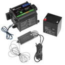 Tekonsha 50-85-325 Breakaway System for 1 to 3 Axle Trailers w/Electric Brakes, Includes Battery Box, 5 Amp Battery w/Push to Test LED Test Meter, Integrated Multi-Stage Charger